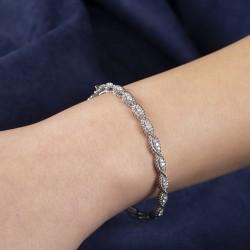 0, 65 crt Diamond Bracelet